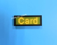 Wholesale Scrolling Yellow LED name tag USB Rechargeable Edit By PC Message Advertising Sign Board World language