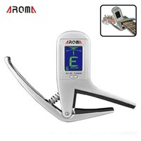 ac bass - Brand New Portable Aroma AC Clip on Guitar Tuner Capo in for Guitar Bass Chromatic Multifunction Universal