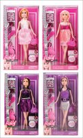Wholesale 2016ss Anlily Barbie Dolls Fashion barbie girl Girl toy kids Gift for children