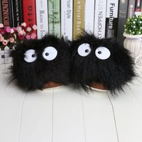 adult bunny slippers - 11 My Neighbor Totoro Ghibli Dust Adult Plush Figure Doll Slipper slippers BLACK bunny slippers support