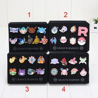 Wholesale 20sets Pocket Poke Badge Pins Eevee Sylveon Flareon Glaceon Umbreon Pikachu Brooch Action Figures toys kids toys