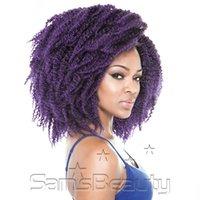 afro braids - New kinky quot Folded Hot Ombre Braiding Hair Afro Hair Kanekalon Jumbo Marlybob MALIBOB Twist Synthetic Dreadlock Crochet Hair Extensions