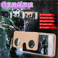 Wholesale VR Virtual Reality D Glasses Video VR D Glasses cases for iphone6 iphone s Vr box FOR SEXY Movies and games