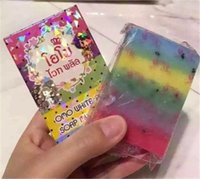 Wholesale Hot Sale Gluta Whitening Soap rainbow soap OMO White Mix Fruits Color Alpha Arbutin Anti Dark Spot