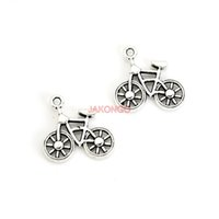 antique bicycle accessories - 20pcs Antique Silver Plated Bike Bicycle Charms Pendants for Necklace Bracelet Jewelry Accessories Making DIY Handmade x20mm