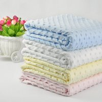 autumn quilt fabric - Thick knit Polar fleece fabric baby blankets two layer winter baby blanket newborn super soft tunnel swaddle stroller cover