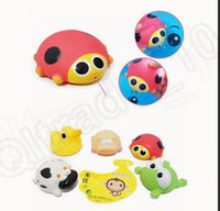 bathroom tub designs - LJJK347 set Mixed Designs Fun Soft Different Floating Animals Rubber Baby Bath Kids Water Toys Bathroom Tub Bathing Toy