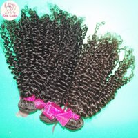 amazing double - Clearance Cheap A Virgin Kinky Curly Brazilian Human Hair Wefts bundles Deal Thick Weaves Amazing DHgate Weave