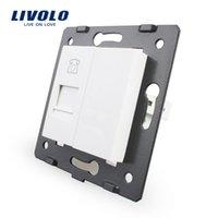 Wholesale Livolo White Plastic Materials EU Standard Function Key For Telephone Socket mm mm Wall Socket VL C7 T