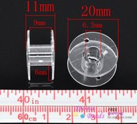 Wholesale 50 Clear Plastic Spools for Thread String Sewing Machine Bobbin Case x11mm B14068 seasons