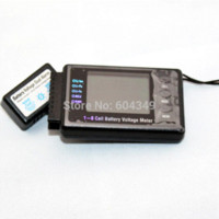 Wholesale BVM digital S LCD battery voltage meter Tester Buzzer lipo lion liFe nimh pb lcd for cell phones lcd strip