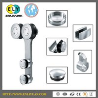 Wholesale High Quality Stainless Steel Satin Finished Double Wheel Sliding Door Roller for Glass Door Sliding System