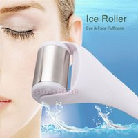 Wholesale New Mini Stainless Head Skin Cool Ice Roller Face Body Hand Massager Facial Muscles Wrinkles Puffy Eyes Cold Therapy Roller