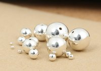 Wholesale silver loose beads DIY jewelry accessories Sterling Silver S925 loose bead with differnt size