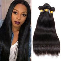 Wholesale 7A Hair Products Hair Wefts Brazilian Straight Hair Weaves quot quot g Brazilian real Human Hair B Hair Brazilian Straight Hair