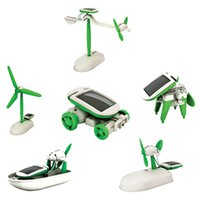 Wholesale New Baby toys Kids in Educational Solar Kit Toy Boat Fan Car Robot Power Moving Dog Children Gifts Brand