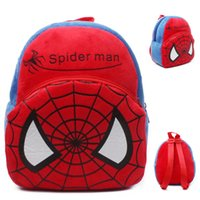 Cheap 1PCS New Baby lovely kids Spider Man design backpack boys cartoon school bags baby Spiderman mini cute bags Kids birthday party gift