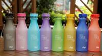 Esmerilado de plástico a prueba de fugas Copa 550ml irrompible portable se divierte la botella de agua de soda botellas de bebidas BPA GRATIS Viaje Eco-Friendly