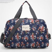 Wholesale 2016 New Fashion Waterproof Floral Print Women Travel Bag Lightweight Luggage Handbag Outdoor Casual Tote Bag Large Capacity Bolsa SIZE