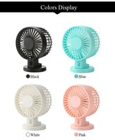 Wholesale Portable Ultra quiet Mini USB Desk Fan Creative Home Office ABS Electric Fans Silent Desktop Fan With Double Side Fan Blades