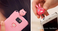 Cheap 3.5mm Anti Dust Plug for Cell Phone Cute Cartoon Design Mobile Phone Dustproof Anti Dust Ear Caps Plug