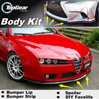 Wholesale Bumper Lip Lips For Alfa Romeo Brera Spider AR Skirt Deflector Spoiler For Car Tuning The Stig Recommend Body Kit Strip