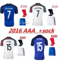 ball france - France ball Jerseys Thai Quality Euro Cup Jersey GRIEZMANN PAYET BENZEMA POGBA Men s Shirts Custom Jerseys