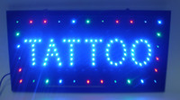Wholesale 5pcs business hot sale manufacture X19 Inch semi outdoor Ultra Bright running tattoo nails shop Led sign
