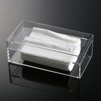 acrylic tissue holder - Acrylic Rectangle Napkin Boxes Tissue Box Transparent Cover Rectangular Holder Acrylic Tissue Box Desktop Box Size cm MN C