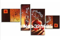 acrylic paint cheap - 4 piece canvas wall art huge Modern abstract acrylic deco cheap picture oil painting for sale home decoration