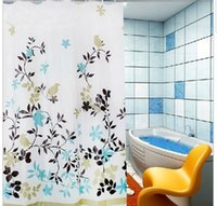 Wholesale Thick waterproof mildew shower curtain bathroom curtain classic floral fashion curtain hooks180 CM ETH033