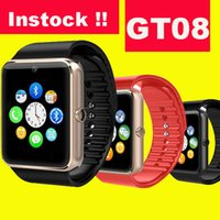 apple monitor - GT08 Smart Watch Compatible Platform IOS Android With Pedometer Camera Monitoring Sleep Sedentary Reminder For iPhone Samsung DHL OTH098