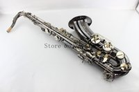 Wholesale Selmer Black Nickel Gold Saxophone Tenor R Falling B Saxofone Bb High F Popular Musical Instruments