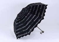 Wholesale Music Note Umbrellas Fold Flounced Cloth Sunny and Rainly Umbrellas Music Gift Umbrella UV protection sun umbrella Whole