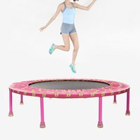 Wholesale Hot Selling Inch Adult Kids Trampoline Children Spring Jumping Bed Indoor Family Playing Bounce Bed Fitness Equipment MD0090