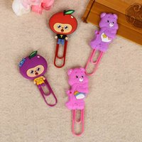 Wholesale New Cute Cartoon Animal Book Mark Paperclip Bookmarks Stationery Gadget Metal Clip Kids Gift School Supplies
