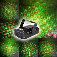 Wholesale Wonderful R G Red Green Laser Projector Stage Light Home Party Lights DJ Disco Light US Plug