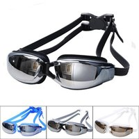Wholesale Hot Men Women Anti Fog UV Protection Swimming Goggles Professional Electroplate Waterproof Swim Glasses