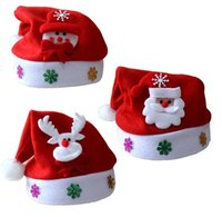 Wholesale New Party Hats Christmas decorations Normal adult red Christmas hat Santa Claus children s Christmas hat