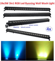 Wholesale xLot Cheap Led Wall Washer Light X3W RGB in1 Led Floodlight mm LED Linear Bar Running Horse Effect Stage DJ Disco