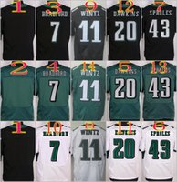 Wholesale 2016 NIK Elite Football Stitched Eagles Blank Bradford Carson Wentz Dawkins Sproles White Green Black Jerseys Mix Order