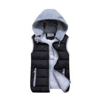 Wholesale Casual Cotton Down Vest For Women Hooded Short Jacket With Zipper Winter Warm Female Waistcoat Outwear Plus Size