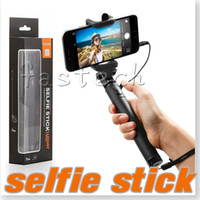 battery pole - Selfie Stick Headphone Jack One piece Battery Free No Bluetooth mm Cable take pole Camera Stick Monopod For iPhone s s Plus