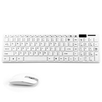 Wholesale 2016 New Simple White G Ultra Slim Mini Wireless Keyboard and Mouse Combo Kit for PC Desktop Classic White Office Set