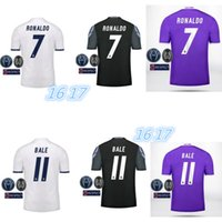 Wholesale 1617 Real Madrid home and away men Shirt camiseta tailandia reales madrides Conjunto de Entrenamiento Shirt uniforms bambino
