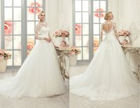 Wholesale Wedding custom posed trailing A word skirt new high end wedding dress fashion lace cultivate one s morality