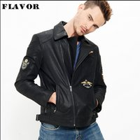air force insignias - Fall The new men s leather men to do the old retro leather jacket Air Force insignia armband S XL