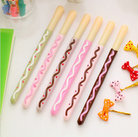 Wholesale Lifelike Biscuit Stick Kawaii Cookie Gel Pen School Supplies Stationery Writing Student Gift Kids Rewarding