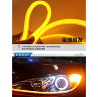 Wholesale universal lamp CM car with silicone double ribbon LED lamp light on steering eyes