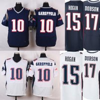 aaron dobson - 2016 New Elite Patriots Mens Jimmy Garoppolo Chris Hogan Aaron Dobson Navy White Stitched J Brissett Free Drop Shipping